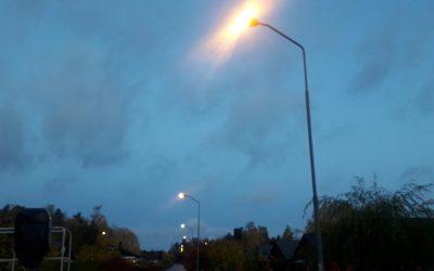 Service av belysning 18-20/10 lamporna kommer lysa även dagtid